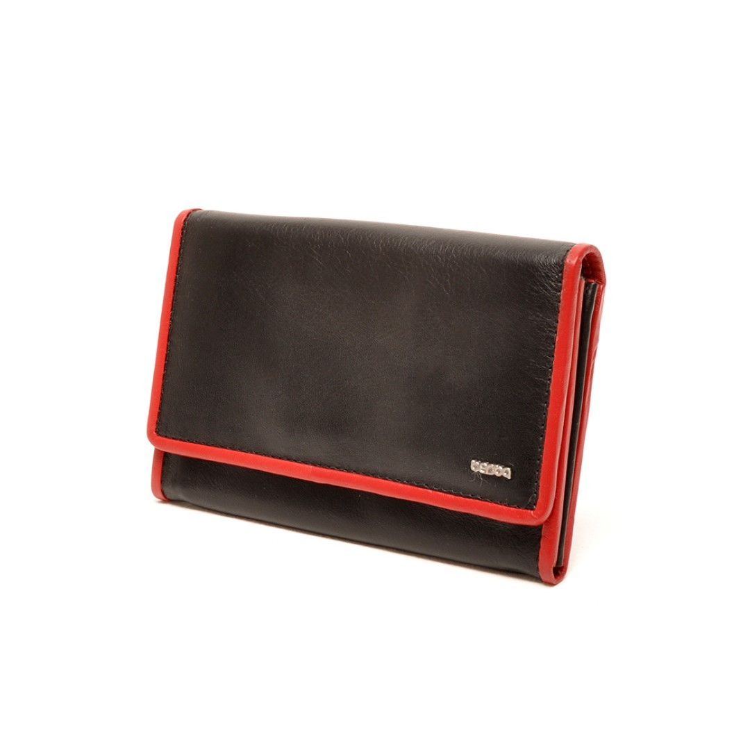berba soft ladies wallet m 001 303 15 black red