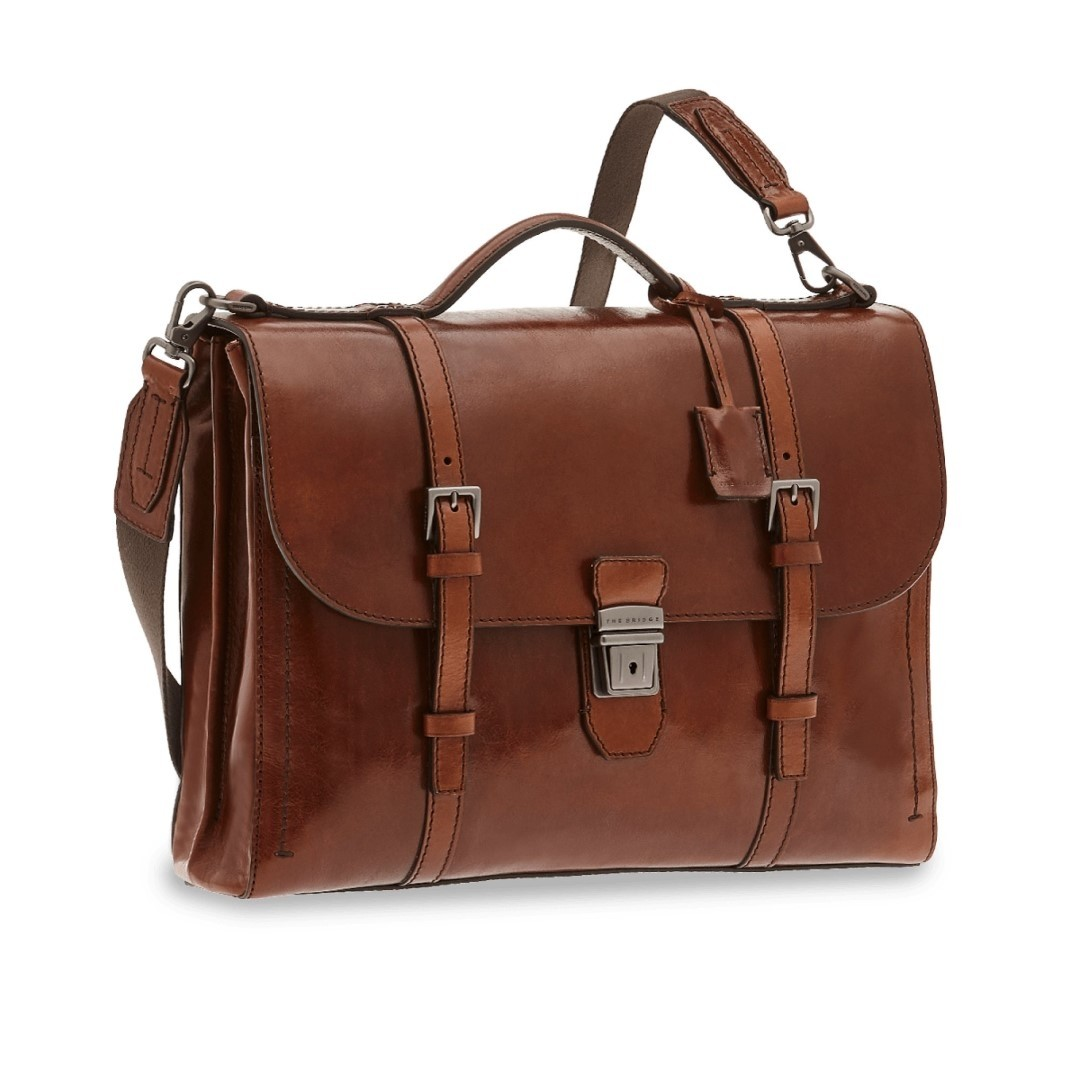 The Bridge Byron Briefcase brown