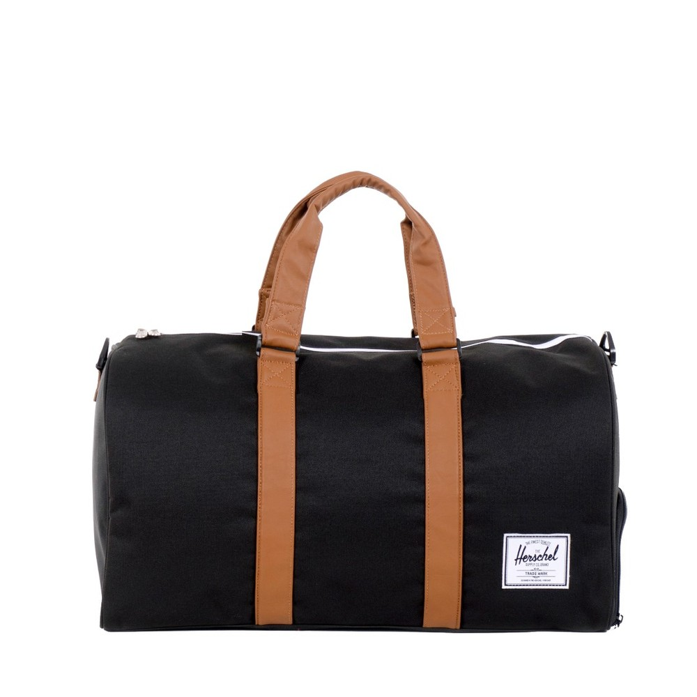 herschel supply novel 10026 00055 black tan