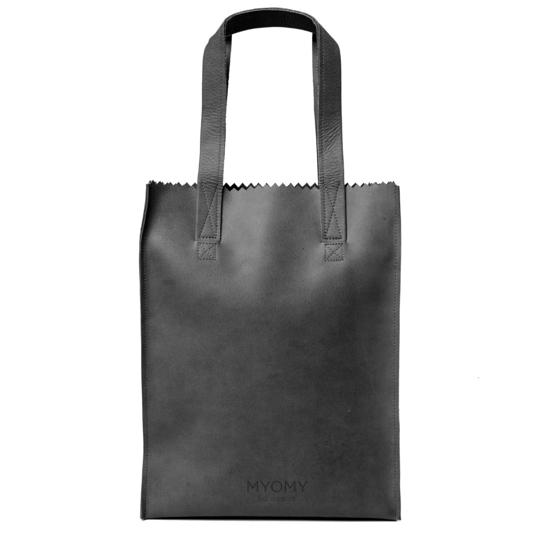 myomy my paper bag long handle zip 1027 off black