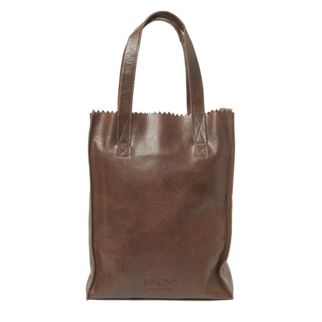 myomy my paper bag long handle zip 1027 rambler brandy
