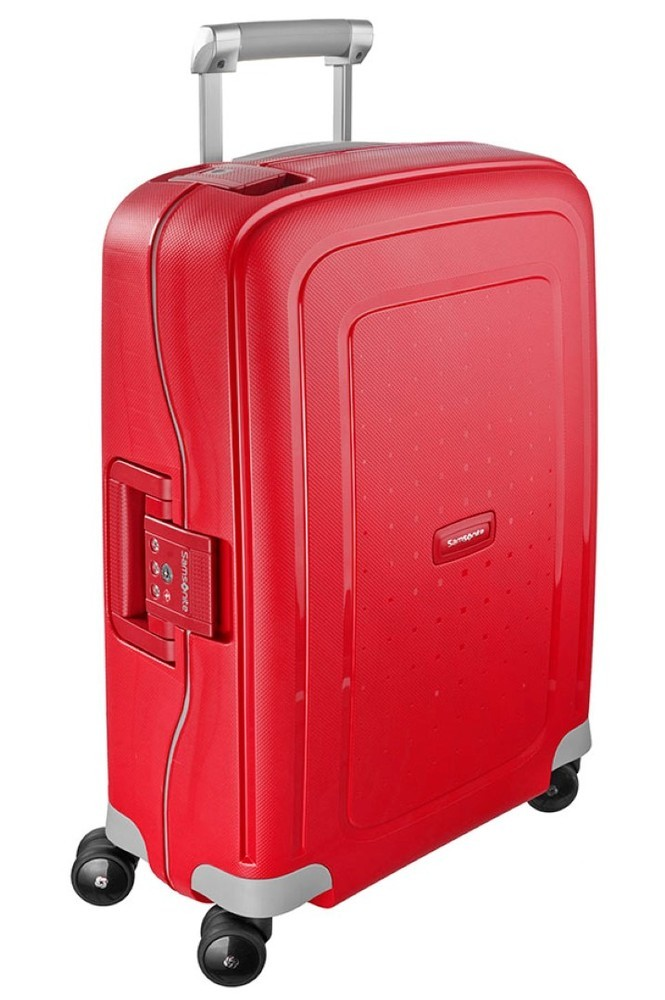 Samsonite S'Cure handbagage trolley spinner rood