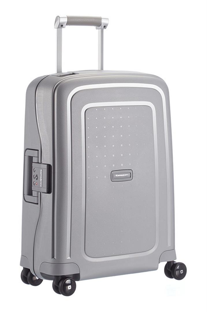 Samsonite S'Cure handbagage trolley spinner zwart
