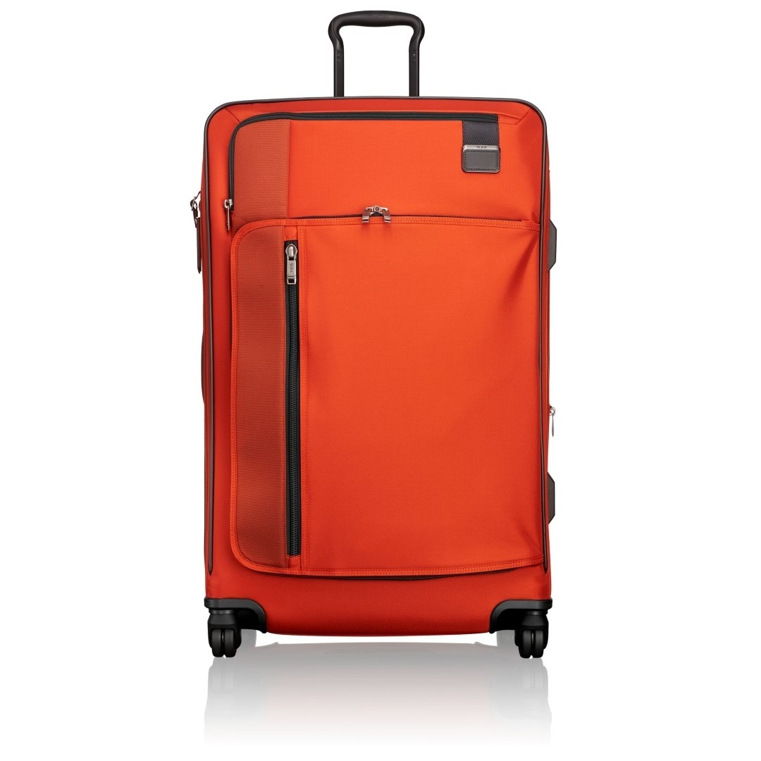 tumi merge ext trip exp pack case 2228669 sunset red