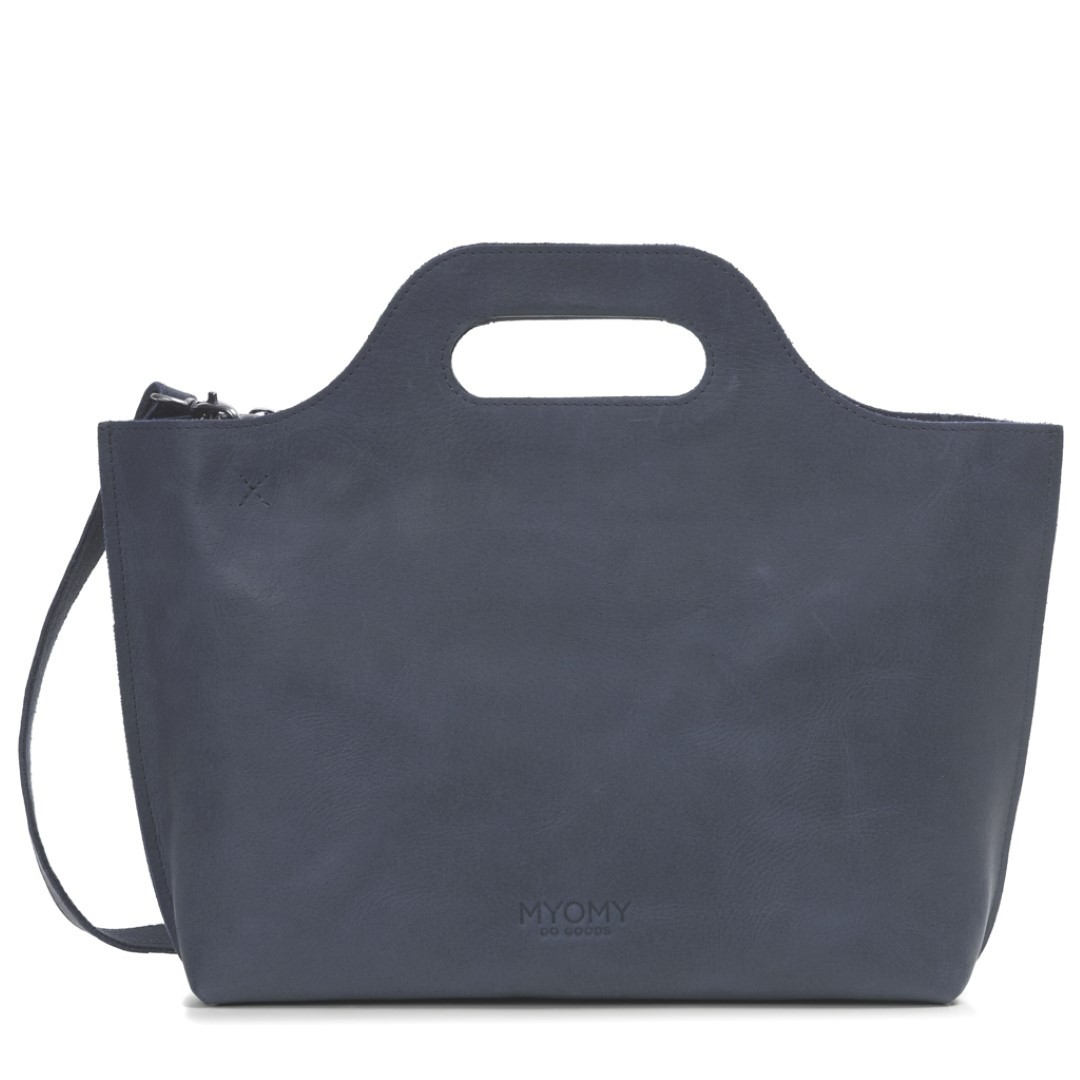 myomy my carry bag carry handbag 8008 hunter blue grey