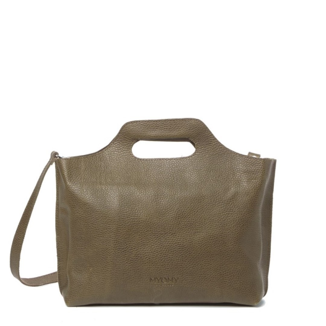 my paper bag carry handbag 8008 rambler taupe