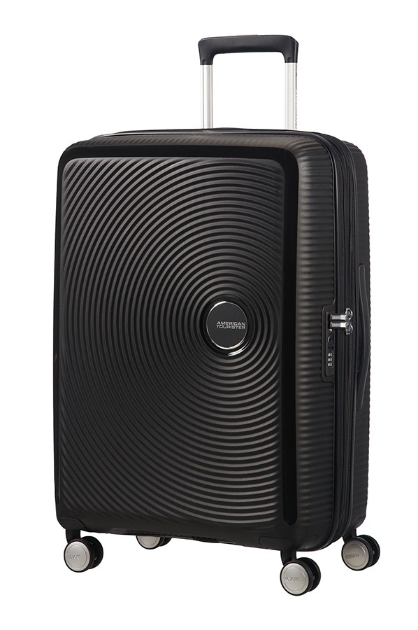 Afbeelding van American Tourister Soundbox Spinner 67 Exp. Bass Black Harde Koffers