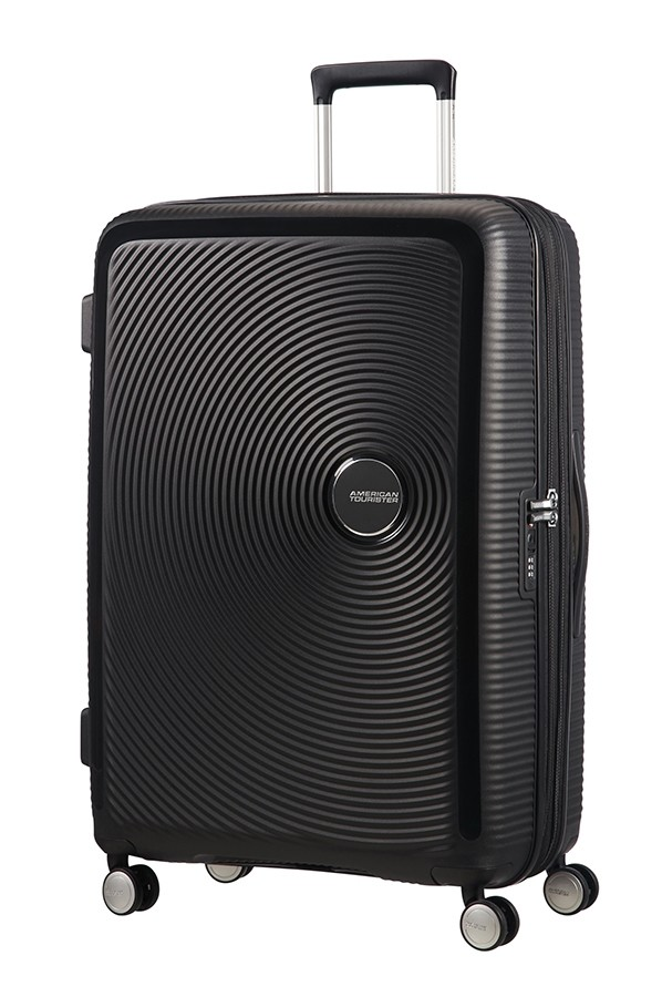Afbeelding van American Tourister Soundbox Spinner 77 Exp. Bass Black Harde Koffers