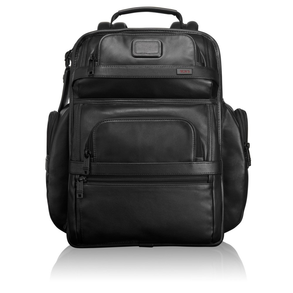 tumi alpha leather t pass business cl briefpack 96578 black