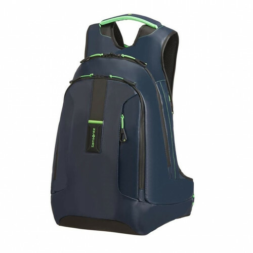 Samsonite PARADIVER LIGHT LAPTOP BACKPACK L+, 01N-003 in de kleur 31 night blue-fluo green 5400520027450