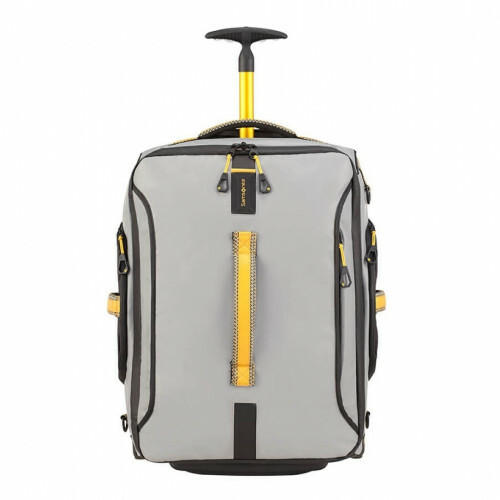 Samsonite PARADIVER LIGHT DUFFLE WHEELS 55 BACKPAC, 01N-008 in de kleur 18 grey-yellow 5414847968624