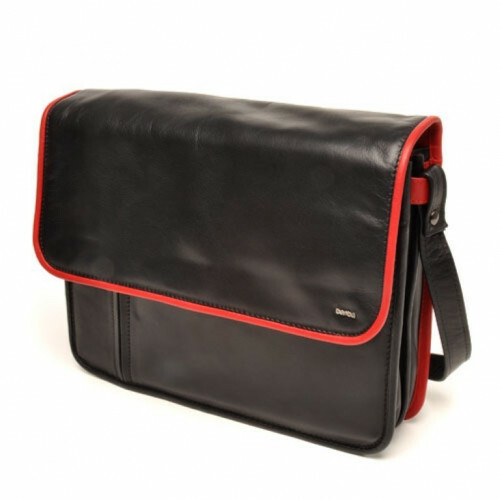 Berba SOFT HALF FLAPBAG, 025-571 in de kleur 15 black - red 8718924020852