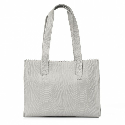 MYOMY MY PAPER BAG HANDBAG ZIP, 1057 in de kleur anaconda grey 8719075376454