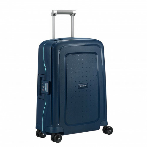 Samsonite S'CURE SPINNER 55, 10U-003 in de kleur 52 navy blue-capri blue 5414847855092