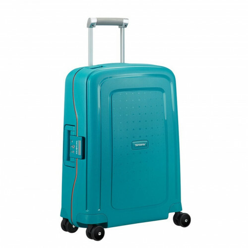Samsonite S'CURE SPINNER 55, 10U-003 in de kleur 62 carib.blue-vibr.orange 5414847855108