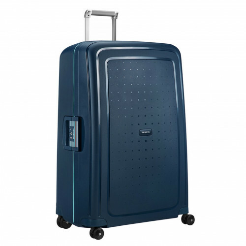 Samsonite S'CURE SPINNER 81, 10U-004 in de kleur 52 navy blue-capri blue 5414847855153
