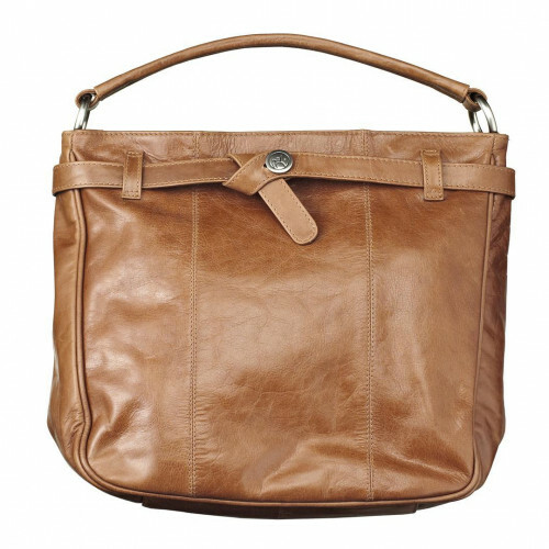 Adax SALERNO ZIPPERBAG, 164469 in de kleur camel