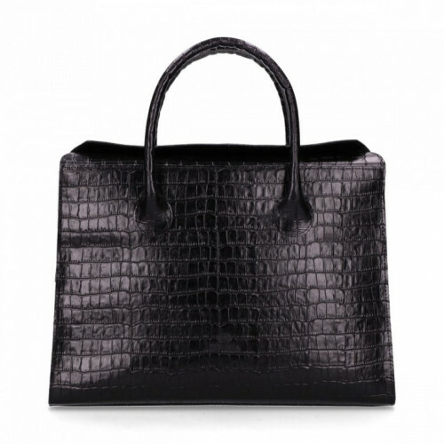 Fred de la Bretoniere CROCO WORKING BAG, 242010017 in de kleur 0026 black 8719637620582