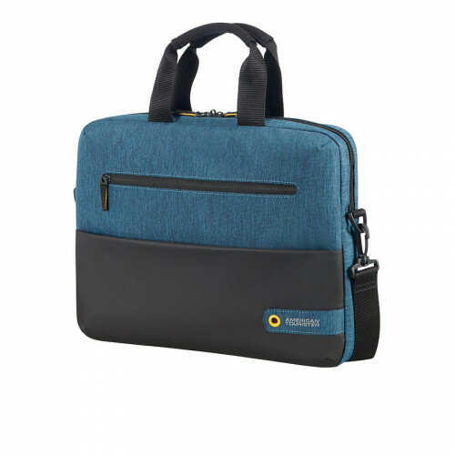 "American Tourister CITY DRIFT LAPTOP BAG 14"", 28G-003 in de kleur 19 black-blue 5414847739958"