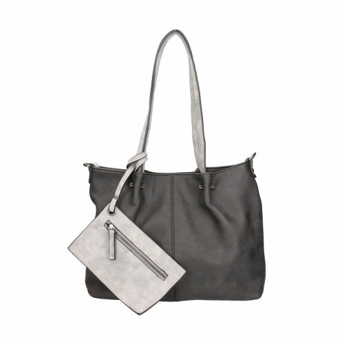Meier Lederwaren BAG IN BAG M, 299 in de kleur 108 black-grey 4049391093624