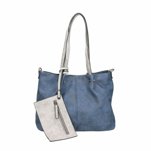 Meier Lederwaren BAG IN BAG M, 299 in de kleur 508 blue-grey 4049391113827