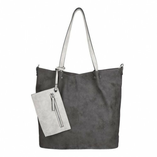 Meier Lederwaren CITYSHOPPER, 300 in de kleur 108 black-grey 4049391093723