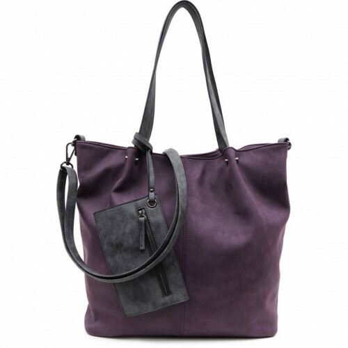 Meier Lederwaren CITYSHOPPER, 300 in de kleur 628 aubergine-grey 4049391217792