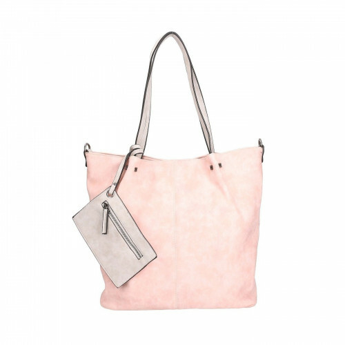 Meier Lederwaren CITYSHOPPER, 300 in de kleur 658 pink-grey 4049391093761