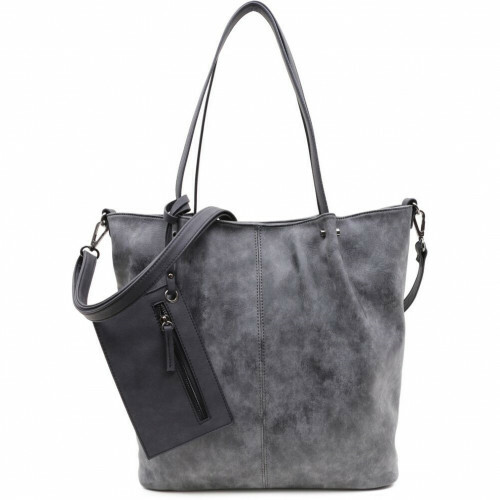 Meier Lederwaren CITYSHOPPER, 300 in de kleur 801 darkgrey-black 4049391217846