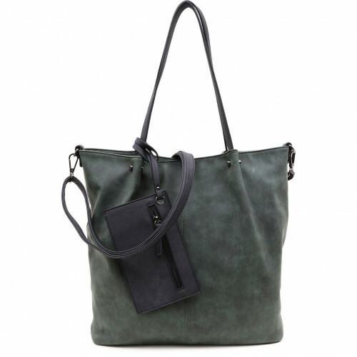 Meier Lederwaren CITYSHOPPER, 300 in de kleur 931 green-black 4049391217860