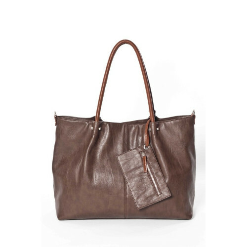 Funbag BAG IN BAG L Shopper, 401 in de kleur 87 grey/cognac