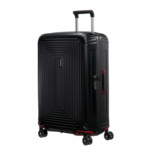 Samsonite NEOPULSE SPINNER 75, 44D-003 in de kleur 19 matte black 5414847686702