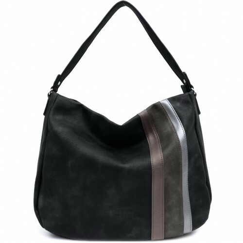 Sina Jo SHOULDERBAG STRIPE, 691 in de kleur 100 black 4049391216085