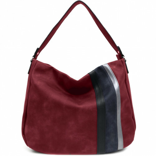 Sina Jo SHOULDERBAG STRIPE, 691 in de kleur 690 wine 4049391216115
