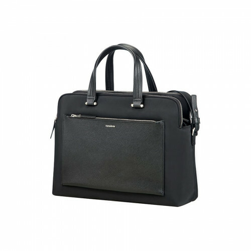 "Samsonite ZALIA ORG BAILHANDLE 14"", 85D-004 in de kleur 09 black 5414847666278"
