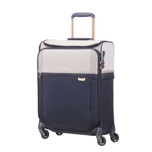 Samsonite UPLITE SPINNER 55 TOPPOCKET, 99D-013 in de kleur 02 pearl-blue 5414847765100