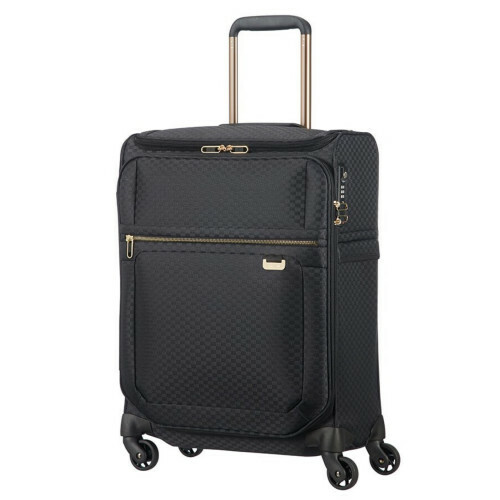 Samsonite UPLITE SPINNER 55 TOPPOCKET, 99D-013 in de kleur 19 black-gold 5414847818813