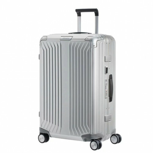 Samsonite LITE-BOX ALU SPINNER 76, CS0-003 in de kleur 08 aluminium 5414847961571