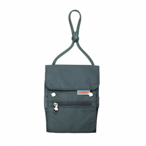 Samsonite TRAVEL ACCESSORIES KANGAROO NECK POUCH, U23-513 in de kleur 18 graphite 5414847249303