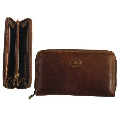 The Bridge STORY DONNA LADIES WALLET ZIP L, 017747 in de kleur 14 marrone 8033748133190