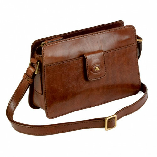 The Bridge STORY DONNA ZIPPER L.H.BAG Ritstas, 044078 in de kleur 14 marrone 8033748032844