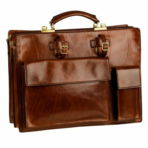The Bridge STORY UOMO BRIEFCASE CM 44, 064399 in de kleur 14 marrone 8033748097164
