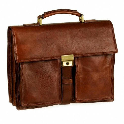 The Bridge STORY UOMO BRIEFCASE CM41 2 VOORVAK, 064479 in de kleur 14 marrone 8033748097751