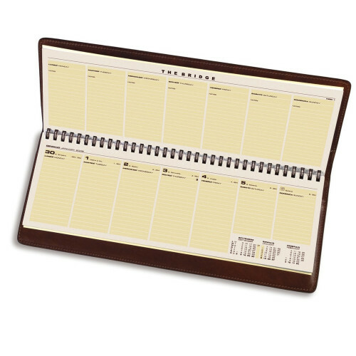 The Bridge STORY EXCLUSIVE DESKAGENDA FLAT, 099165 in de kleur 14 marrone 8033748059889