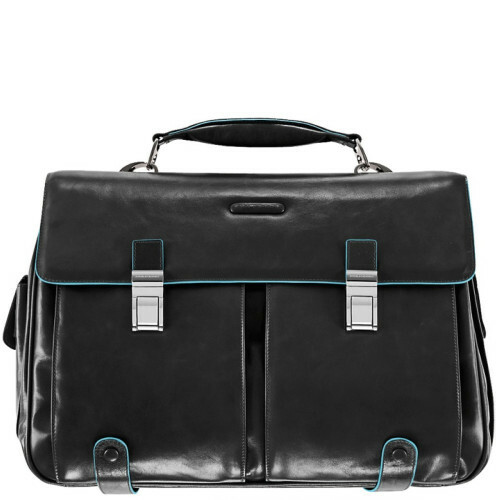 Piquadro BLUE SQUARE BRIEFCASE 2 FRONTPOCKET, CA1068B2 in de kleur N nero 8024671029131
