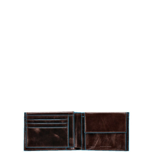 Piquadro BLUE SQUARE MEN'S WALLET, PU1392B2 in de kleur MO mogano 8024671050494