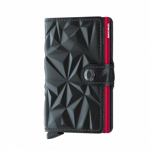 Secrid Miniwallet M prism-black-red