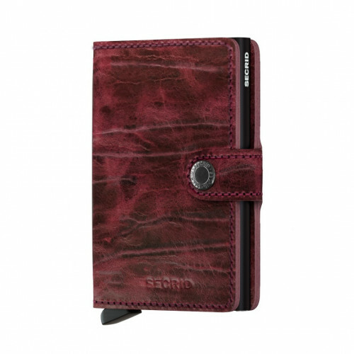 Secrid Miniwallet Dutch Martin in de kleur bordeaux