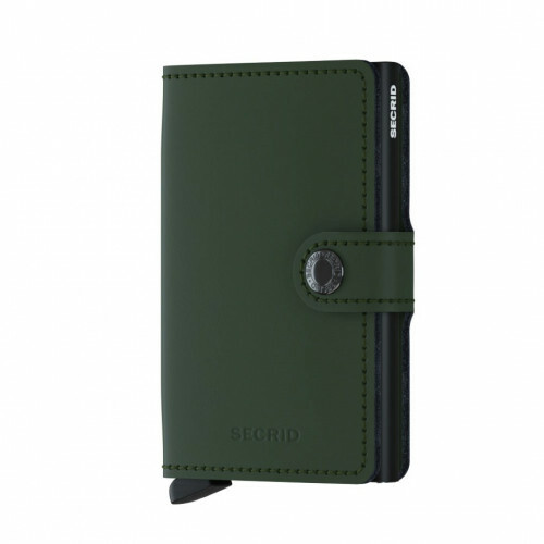 Secrid MINIWALLET MINIWALLET MATTE, MM in de kleur matte green-black 8718215285847