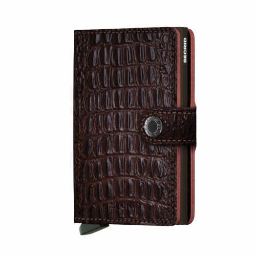 Secrid Miniwallet in de kleur brown